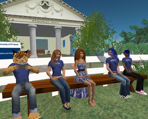 Relaxing near the virtual Memorial Hall