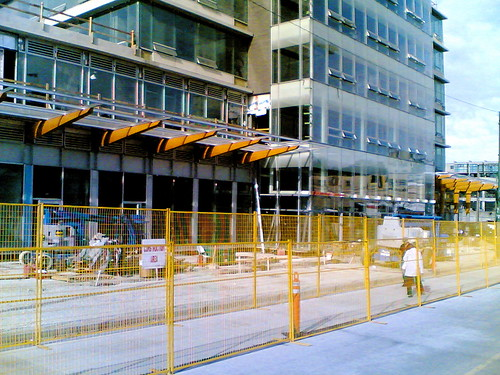 Construction on Broadway and Cambie
