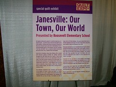 Our Town, Our World quilt