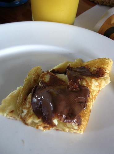 nutella and banana pancake