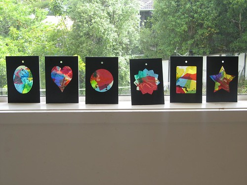 Billie's Christmas gift stained glass windows - from Kids Craft Weekly