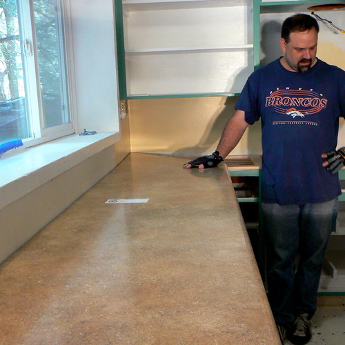 Dry fitting the longest countertop