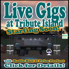Live gigs on Tribute Island