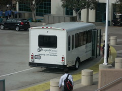Capital Group Companies shuttle bus, Irvine, Ca.