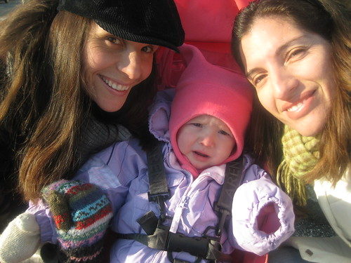 The Chavez Girls Enjoying the Cold Weather