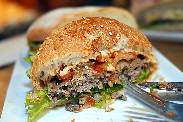 burger half