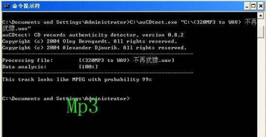 mp3检测结果