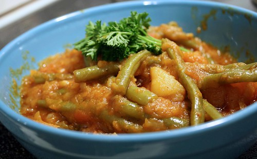 papkira green bean, potato stew