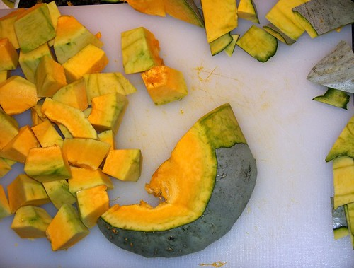 The contrast of the squash meat to the skin is beautiful, no?