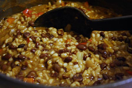 Hilary's vegetarian barley chili