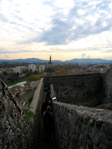 Castle above the town.