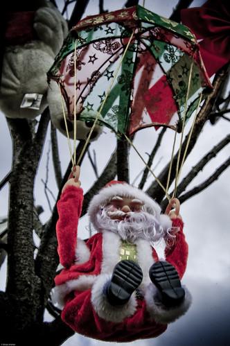 Parachuting Santa