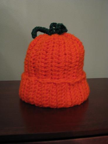 baby pumpkin cap