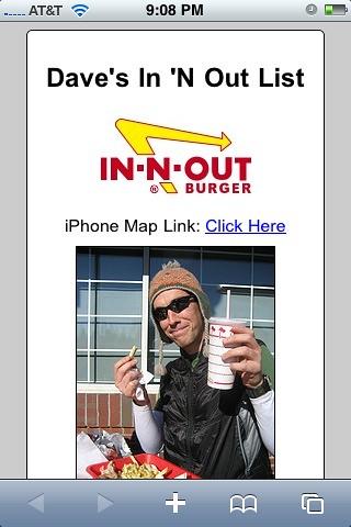 My In 'N Out Web App