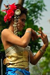 A kathoey dancing