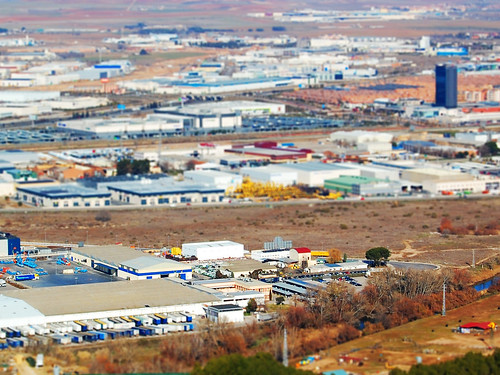 Poligono industrial (tilt shift)