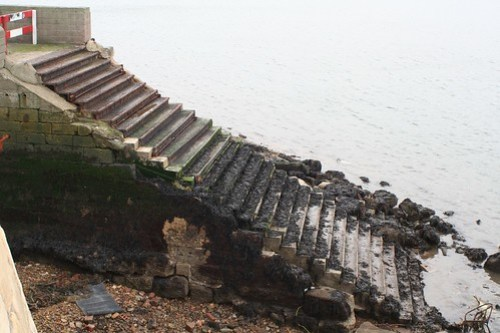 Steps to old Hartlepool - Middleton Ferry Crossing.