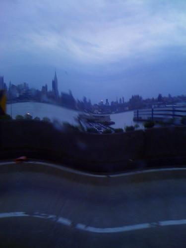 """a """"wavy"""" Manhattan skyline"""