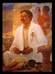 William Blake Richmond portrait of Arthur Evans