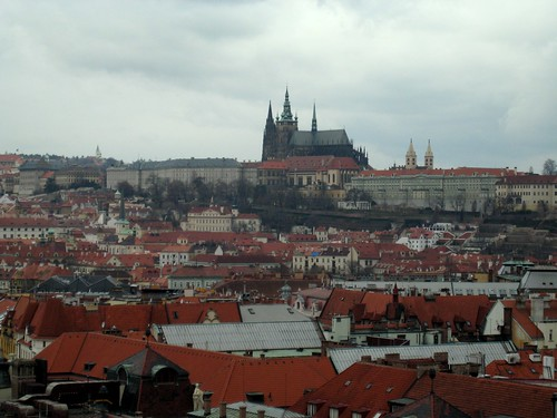 Pražský hrad (Prague Castle) and the Katedrála svatého Vita (St Vitus Cathedral) from the Orloj