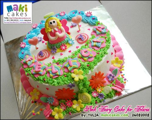 Pink Fairy Cake for Felicia_ - Maki Cakes