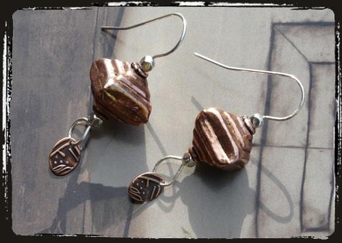 Orecchini rame - Copper hamdmade earrings MEHIRRA