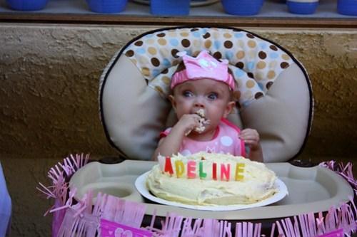 first taste of cake