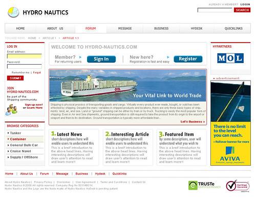 Hydro Nautics - Deep Red