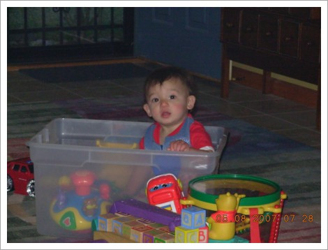 nicky in toy box