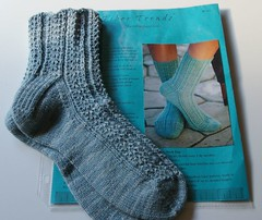 Socks & pattern received in May Day Sock Swap package