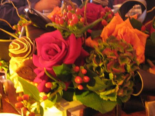 Flowers and Chocolate-Covered Strawberries