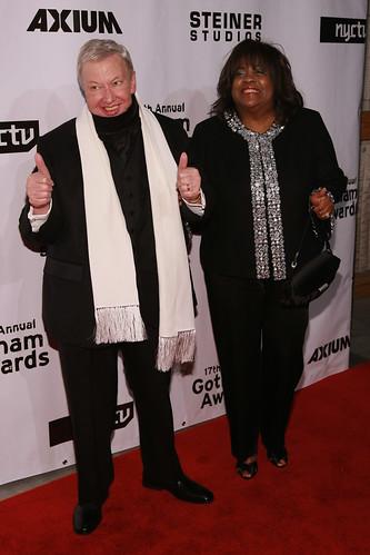 Roger Ebert and his wife Chaz Hammelsmith Ebert at the 2007 Gotham Awards (Courtesy: IFPIsIndieFilm)
