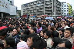 Crazy crowds, Guangzhou train station