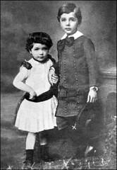 Albert with his sister, Maja