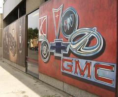 General Motors automobile mural
