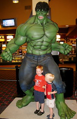 Jake & Joey with the Hulk