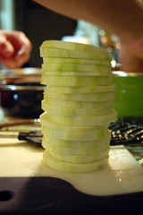 leaning tower of zucchini