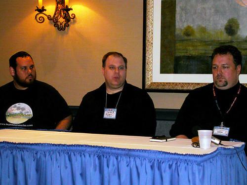E-Publishing Seminar: Me, Ryan Johnson & Gareth-Michael Skarka