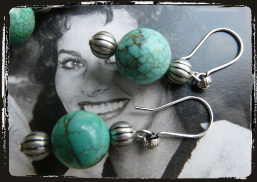 Orecchini turchese - Turquoise earrings AMHHTTU