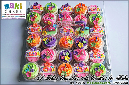 27th Bday Cupcakes for Acha - Maki Cakes