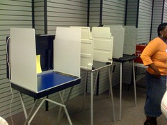 Practice Voting Booth Set-up