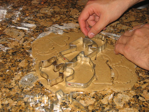 Baking gingerbread last Christmas