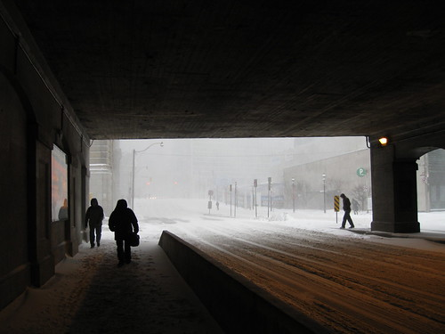 Yonge and Front under the snow storm
