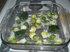 Spinach and sprouts