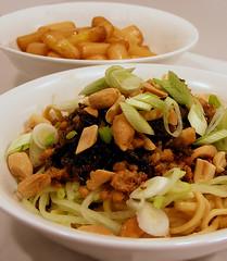 Dan Dan Noodles & White Asparagus