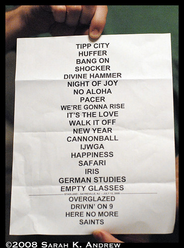 Set List- The Breeders at Starland