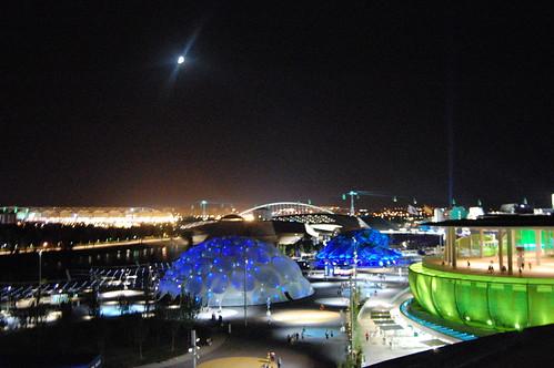 La Expo 2008 de noche