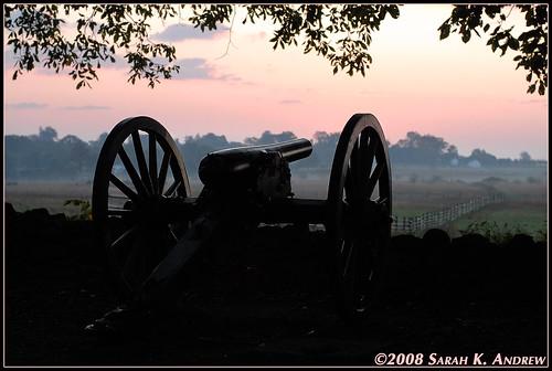 Cannon at Dawn- Gettysburg PA