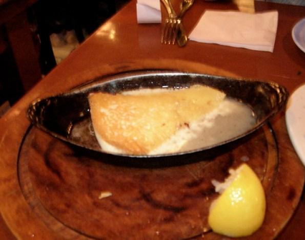 Flaming Cheese Taverna Opa in Orlando