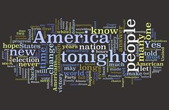 Barack Obama's Acceptance Speach Through Wordle